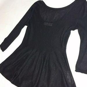 Sparkle black top tunic